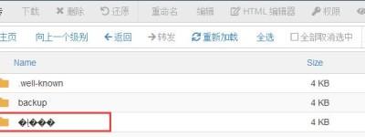 cPanel根目录public_html中文件夹乱码怎么办