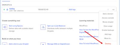 DigitalOcean取消账户进行退款方法介绍
