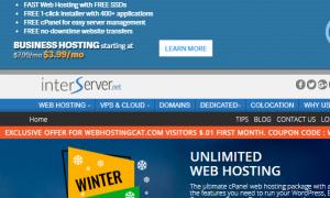InMotionHosting和InterServer美国主机对比介绍