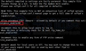 Centos7搭建FTP服务的简单过程