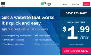 75%优惠+免费域名 iPage黑色星期五低至1.99美元