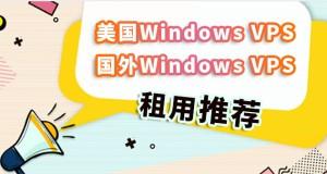 美国Windows VPS/国外Windows VPS租用推荐