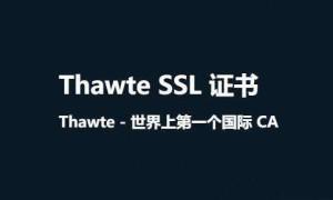 详解Thawte SSL证书的发展历程