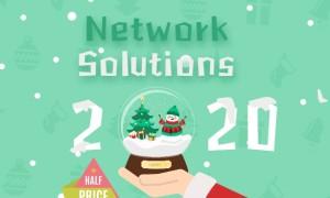 Network Solutions年终圣诞优惠 全站皆享超值七五折