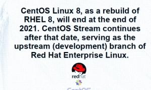 CentOS 8将于2021年结束  CentOS Stream将成为开发重点