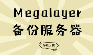 Megalayer备份服务器上线