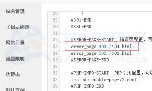 Z-Blog+宝塔面板设置404的教程