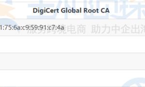 DigiCert Global Root CA证书安装教程