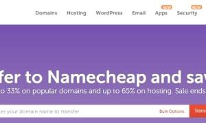 Namecheap域名转移优惠码更新 .com域名转移最高可省33%