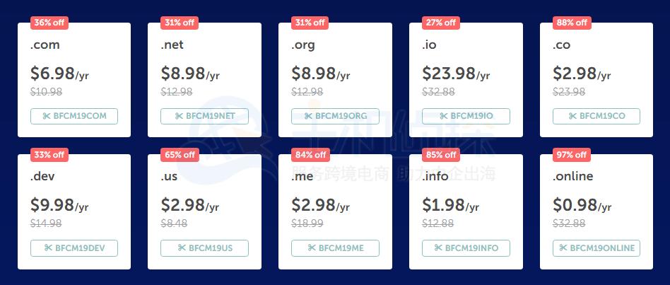 Namecheap网络星期一域名最高可优惠97%