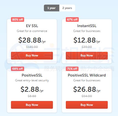 Namecheap网络星期一 SSL证书最低2.88美元/年