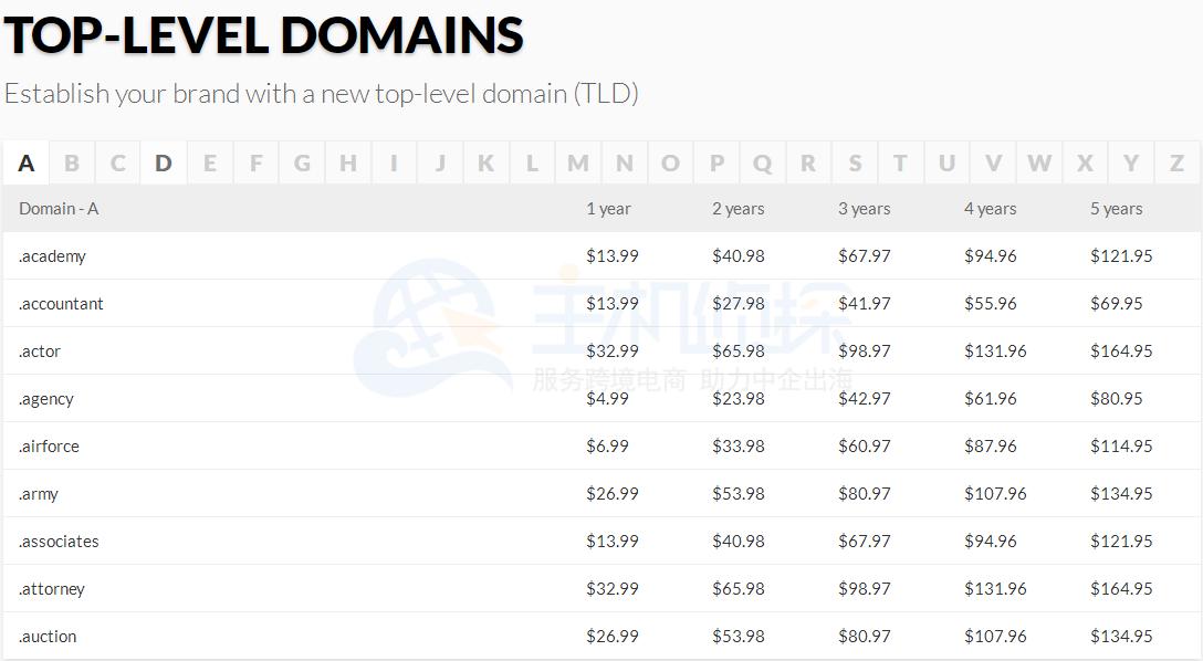 Domain新的顶级域名