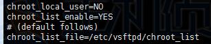 centos7配置FTP用户文件