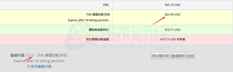 HostEase主机双12三折促销活动