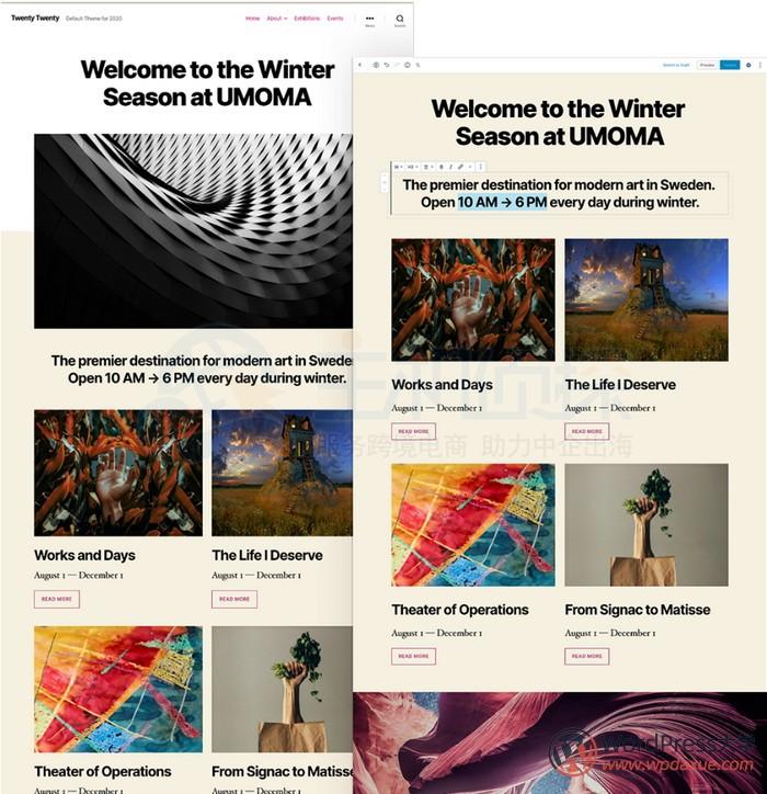 WordPress5.3版本 Twenty Twenty主题