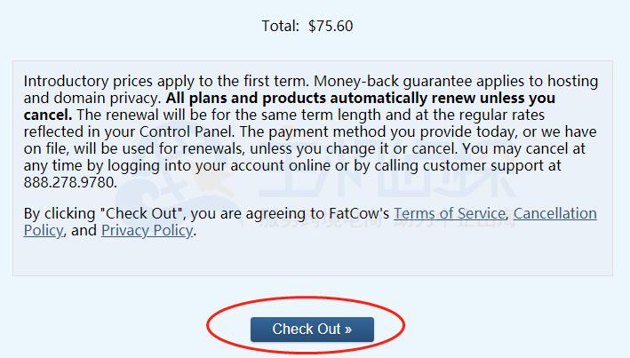 FatCow虚拟主机购买图