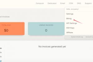 CloudCone Billing账单页面
