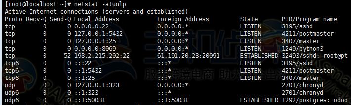 RAKsmart美国服务器netstat命令