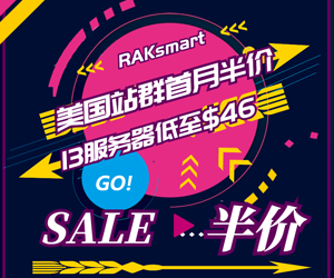RAKsmart美国站群服务器首月半价