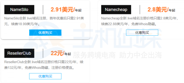 live域名价格