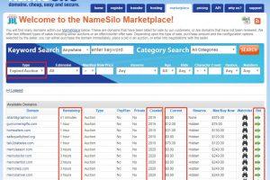 NameSilo域名交易市场截图