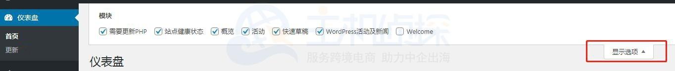 WordPress站点健康仪表盘