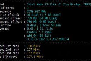 HostDare VPS主机性能磁盘读写