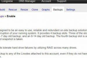 Linode VPS Backup自动备份