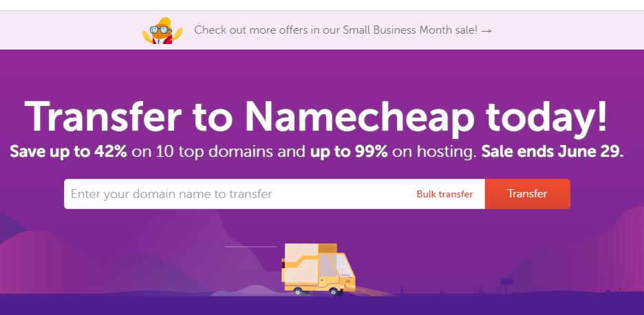 Namecheap优惠活动
