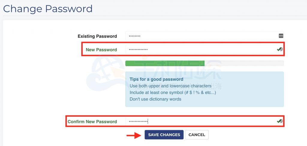 iON账户确认密码