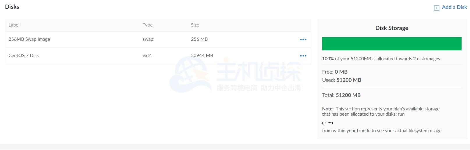 linode配置升级之后的硬盘容量增加