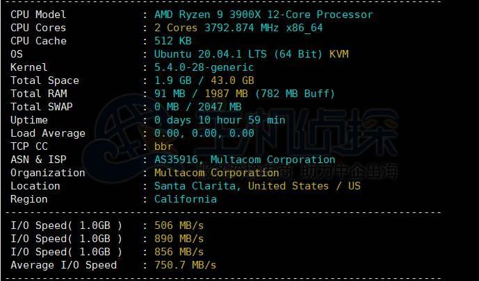 RackNerd Windows VPS性能评测