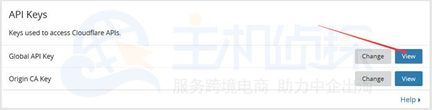 申请到 CloudFlareAPI key