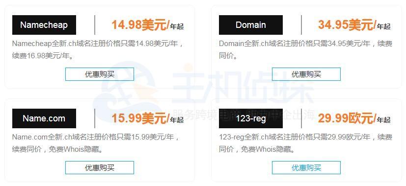 ch域名注册价格