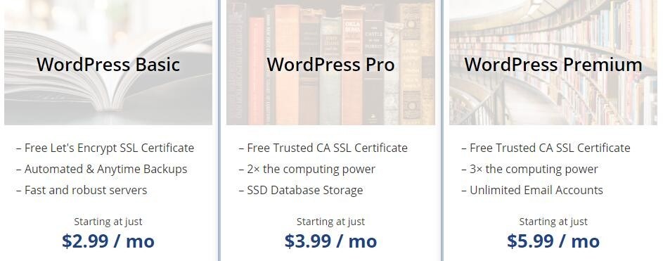 WebHostingPad WordPress主机方案