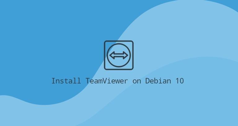 Debian 10上安装TeamViewer
