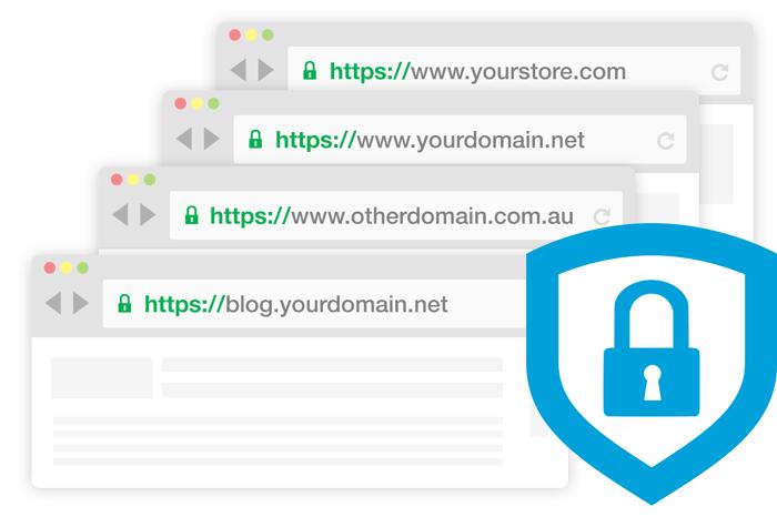 多域名SSL证书效果