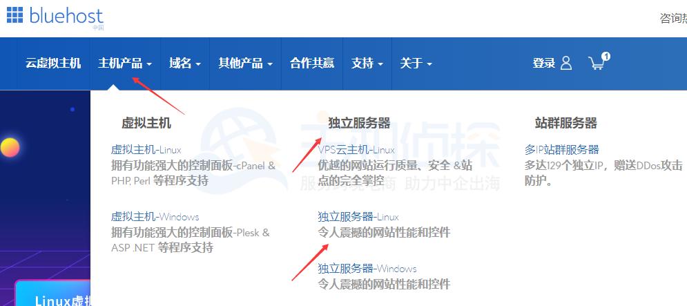 BlueHost香港服务器九折优惠购买教程