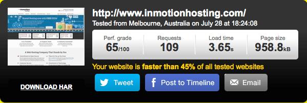 美国主机InMotionHosting速度