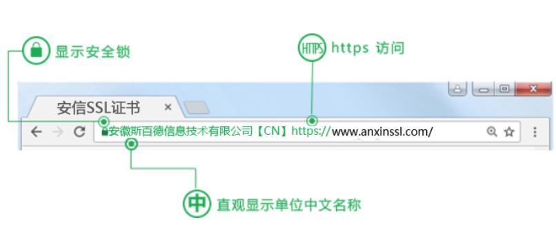 Symantec EV SSL证书浏览器展示效果