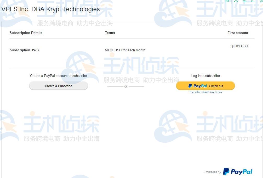 Paypal网站