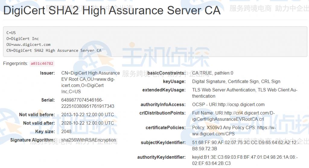 DigiCert SHA2 High Assurance Server CA