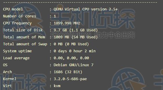 VPS主机配置性能