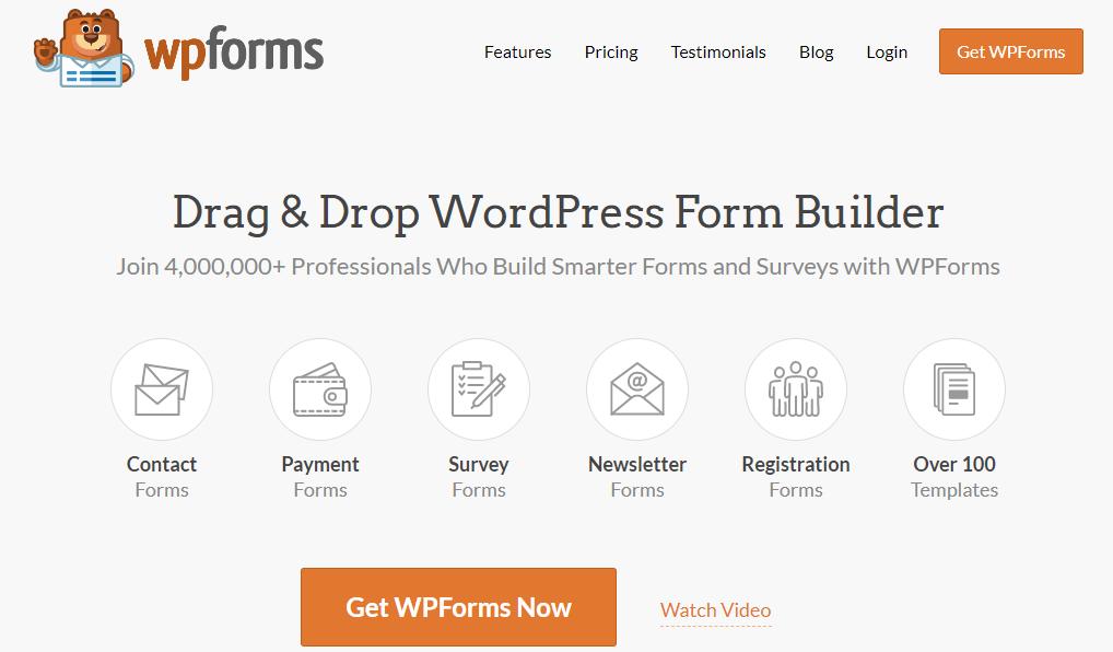 WordPress用户注册表单插件推荐-WPForms