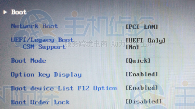 UEFI/Legacy Boot 设为 UEfI Only
