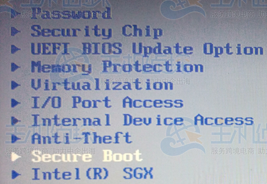 Secure Boot 设为 Disabled