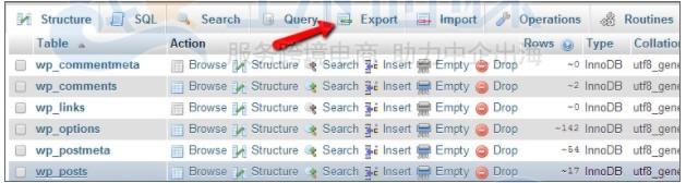 WordPress网站数据库备份的方法和步骤