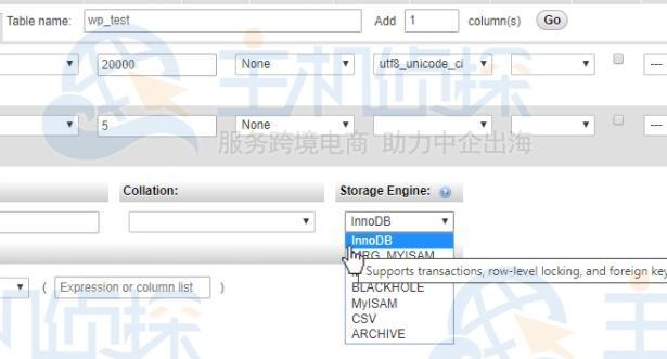 如何用phpMyAdmin在数据库中创建表