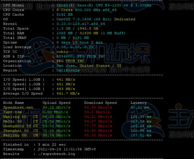 RAKsmart美国服务器E3-1230v6评测