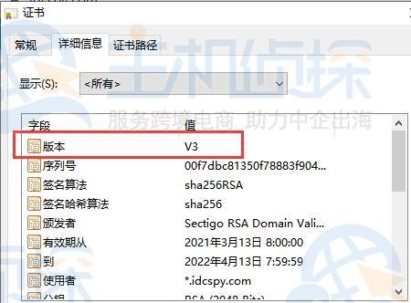 如何查看HTTPS网站安装的SSL证书版本